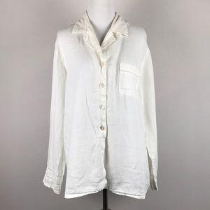 VICTORIA'S SECRET • Linen Button-Up